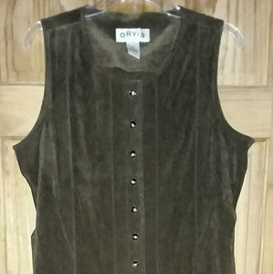 Orvis Sleeveless Dress Women's Brown Size 12P